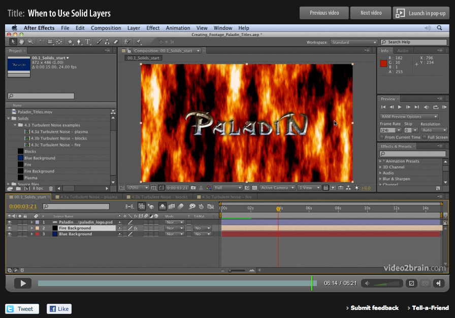 Basics on Solids in Adobe After Effects