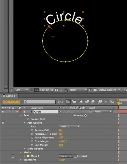 Tip: Wrapping text around a circle in After Effects