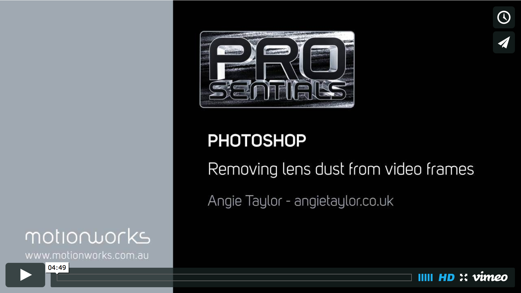 Removing dust from video frames with Photoshop