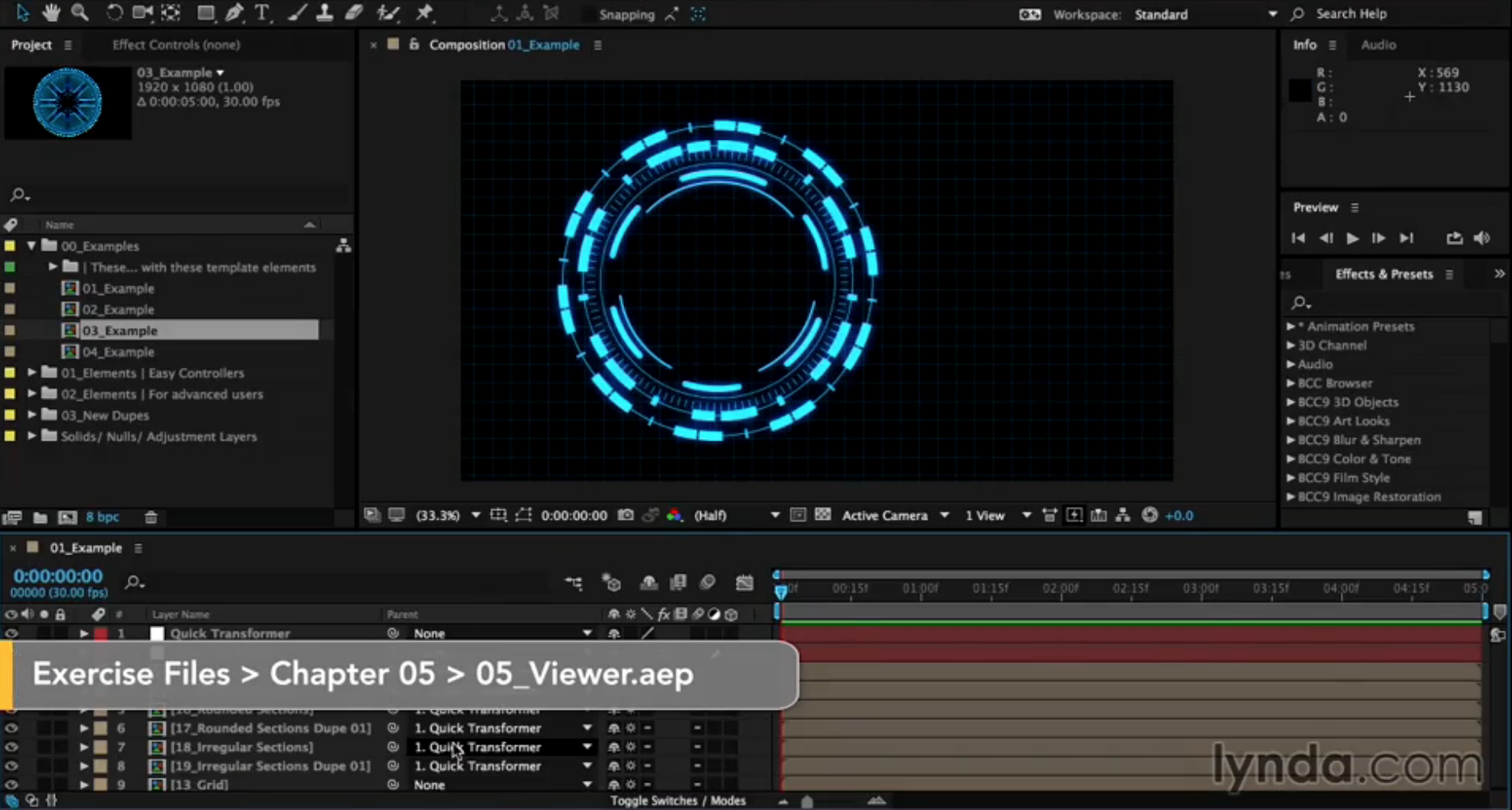 Previewing compositions in the After Effects Primary Viewer