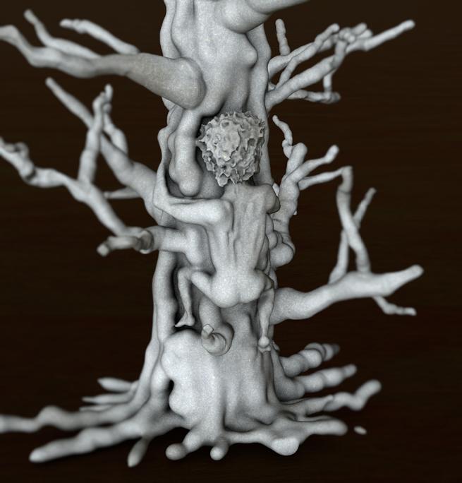 Treeman - digital sculpture by Angie Taylor